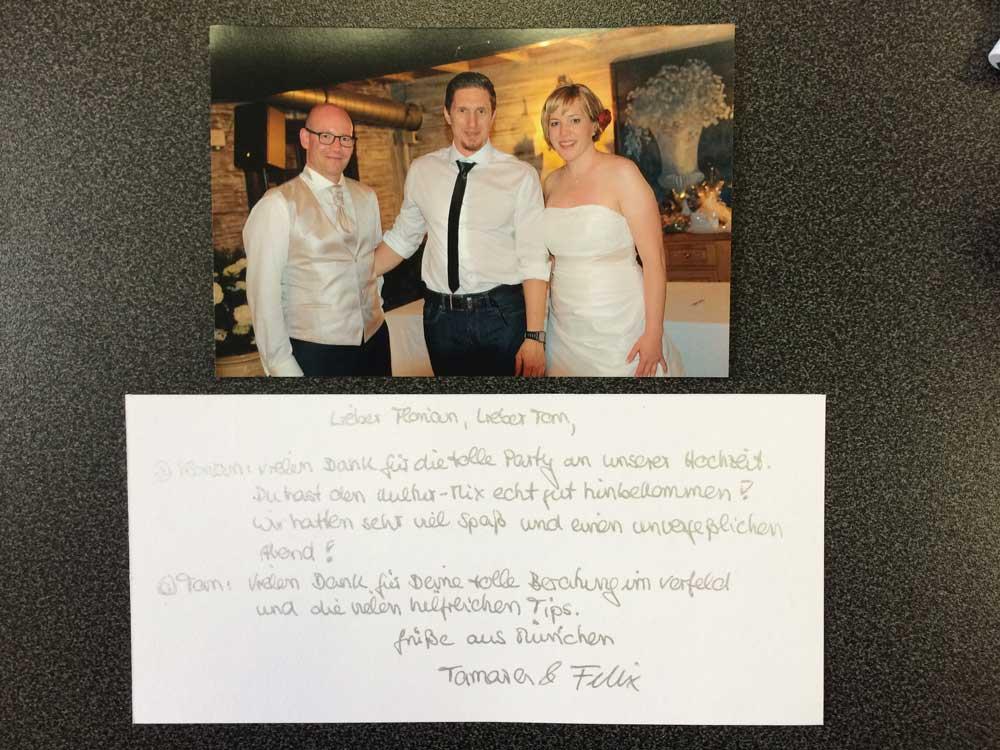 Wieder ein glückliches Brautpaar!